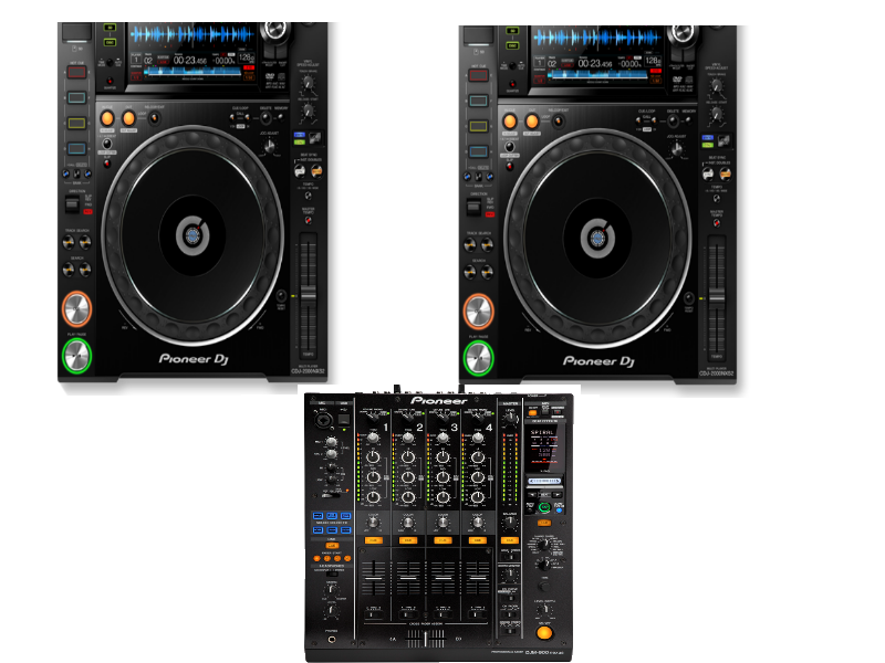 DJ set Pioneer DJM 750MK2 + 2 x CDJNXS2